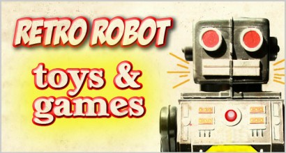 Retro Robot Toys and Games