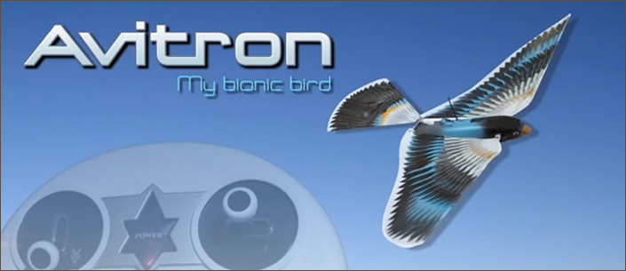 Avitron remote controlled flying bird toy