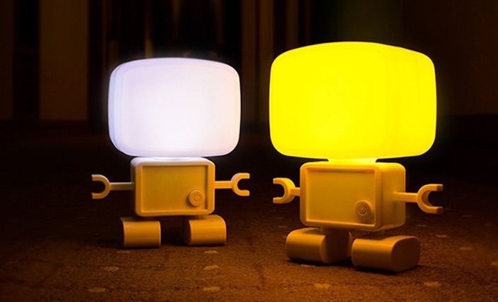 rechargeable led robot lamp