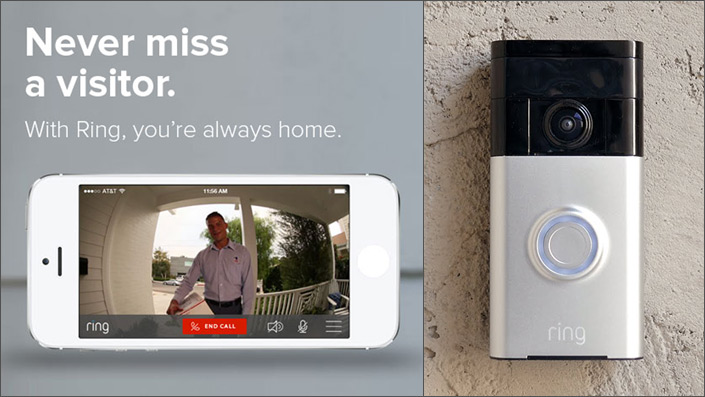 Ring the Wi-Fi Enabled Video Doorbell