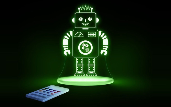 robot multi coloured led night light