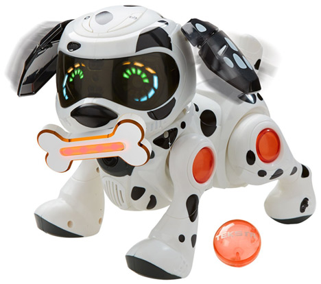 Teksta Robotic Puppy with Bone and Ball