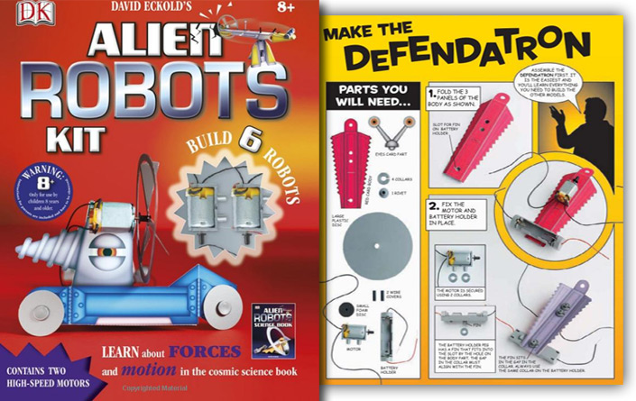 alien robots kit book