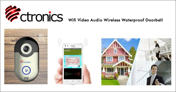 ctronics wireless video audio doorbell