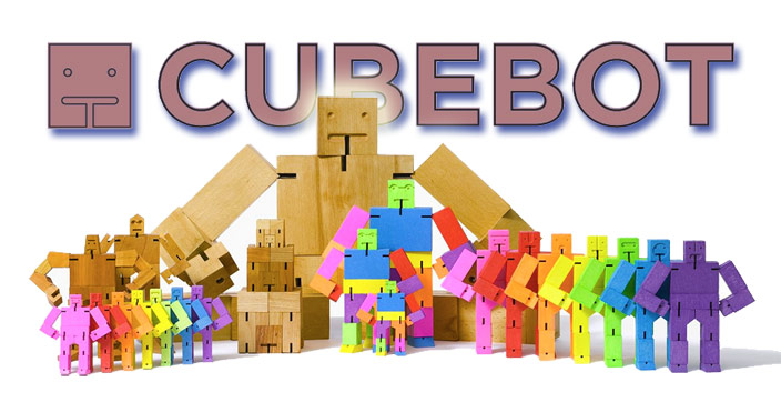 cubebot wooden robot toy