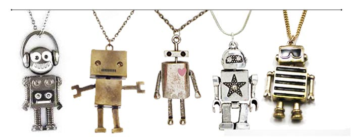 robot necklace for men and women