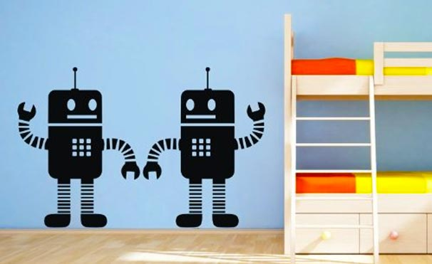 robot wallpaper and decals