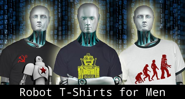 men's robot t shirts