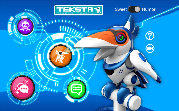 teksta toucan electronic bird