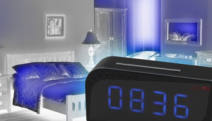 alarm clock with hidden camera