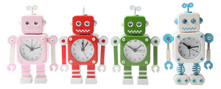robot alarm clocks for kids