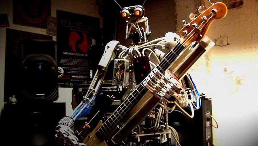 robot heavy metal band compressorhead