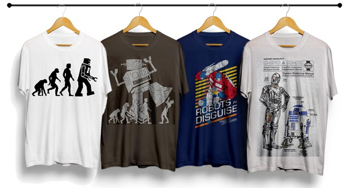 cool robot t shirts