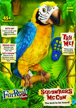 squawkers mccaw robot parrot toy
