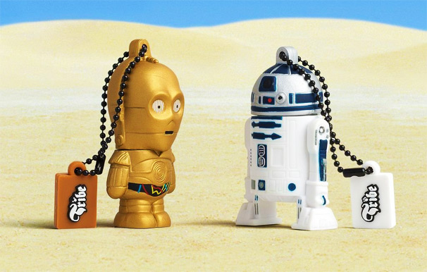star wars c3po and r2d2 usb flash drives